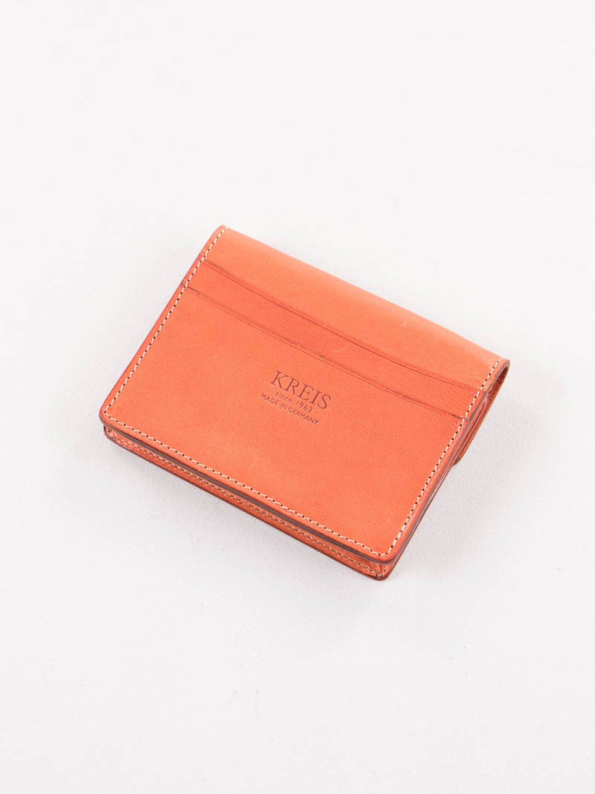 Orange italian calf small wallet by kreis the bureau for Bureau belfast