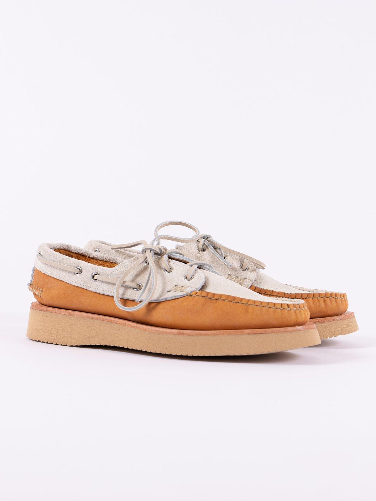 BB Tan/FO White Boat Shoe Exclusive - Image 1
