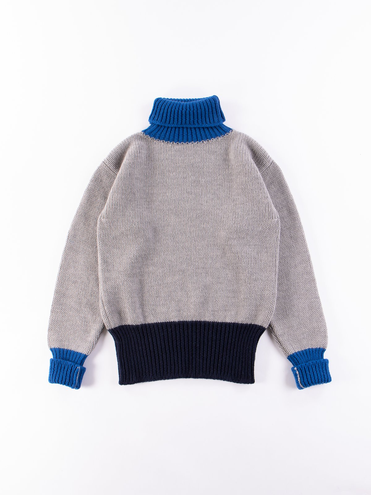 Grey/Navy/Blue George Lowe Roll Neck - Image 1