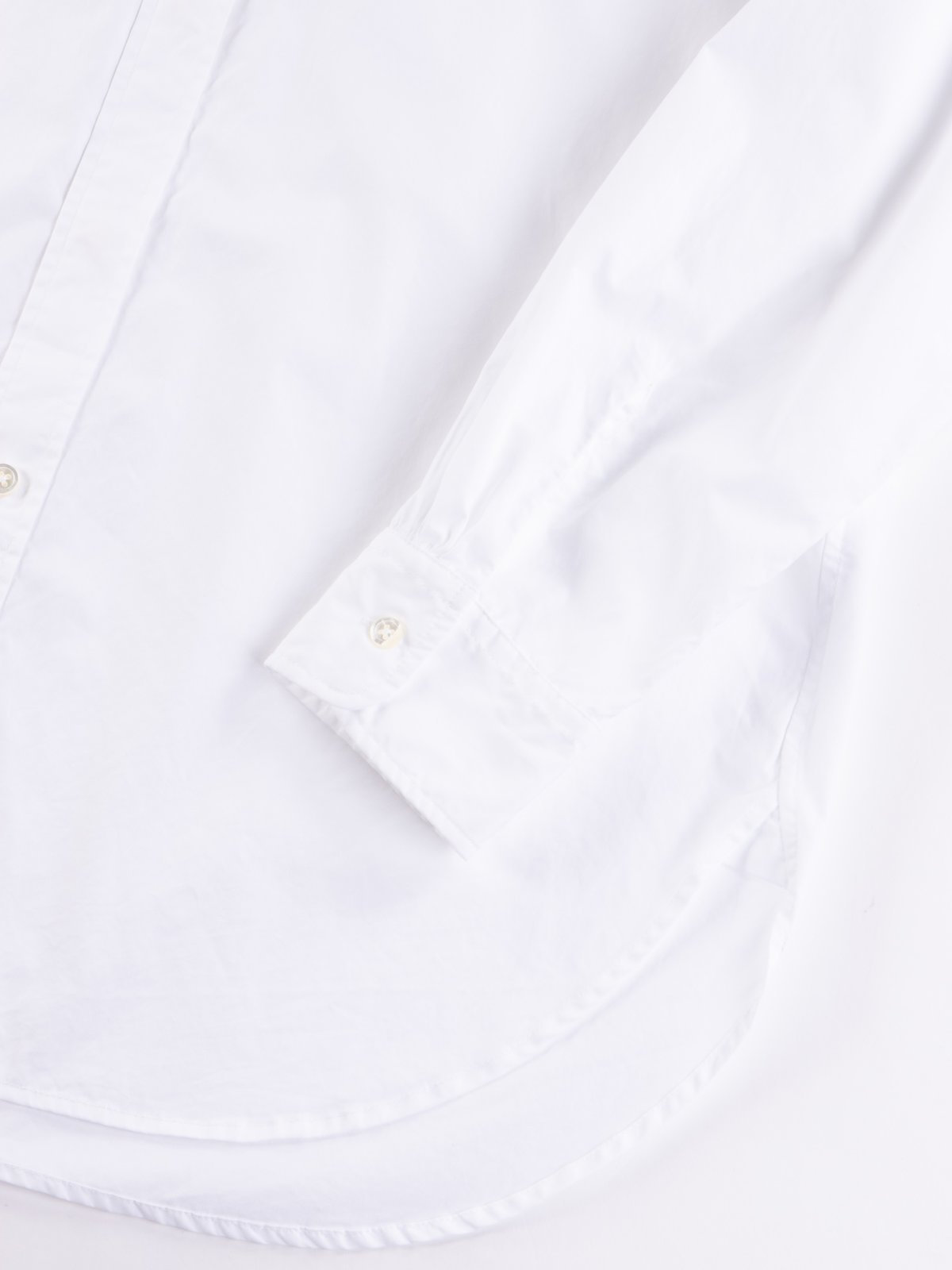 White 100's 2Ply Broadcloth Rounded Collar Shirt - Image 4