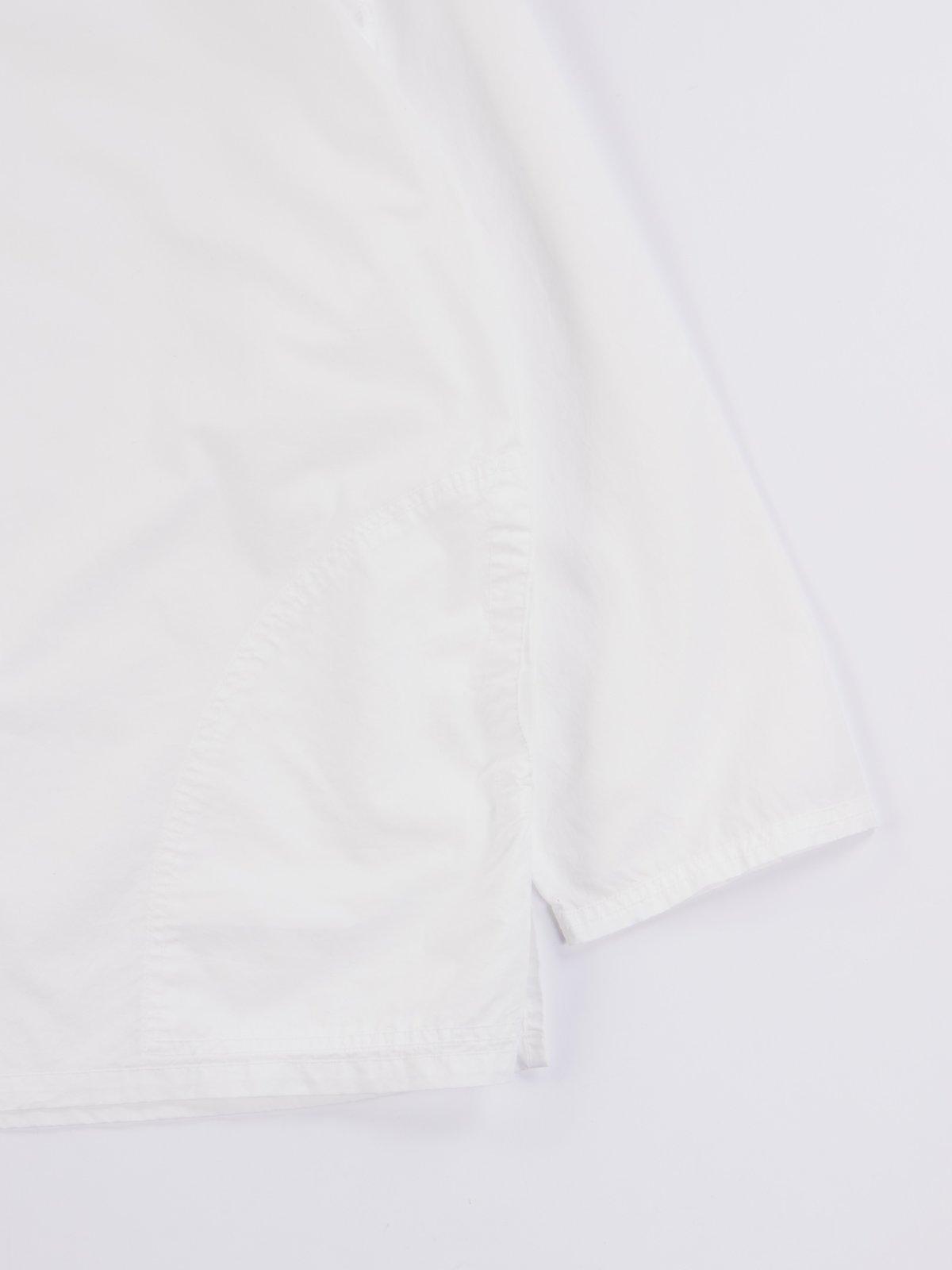 White Poplin Pullover Shirt - Image 4