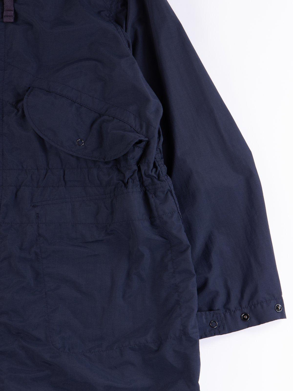 Navy Acrylic Coated Nylon Taffeta Highland Parka - Image 4