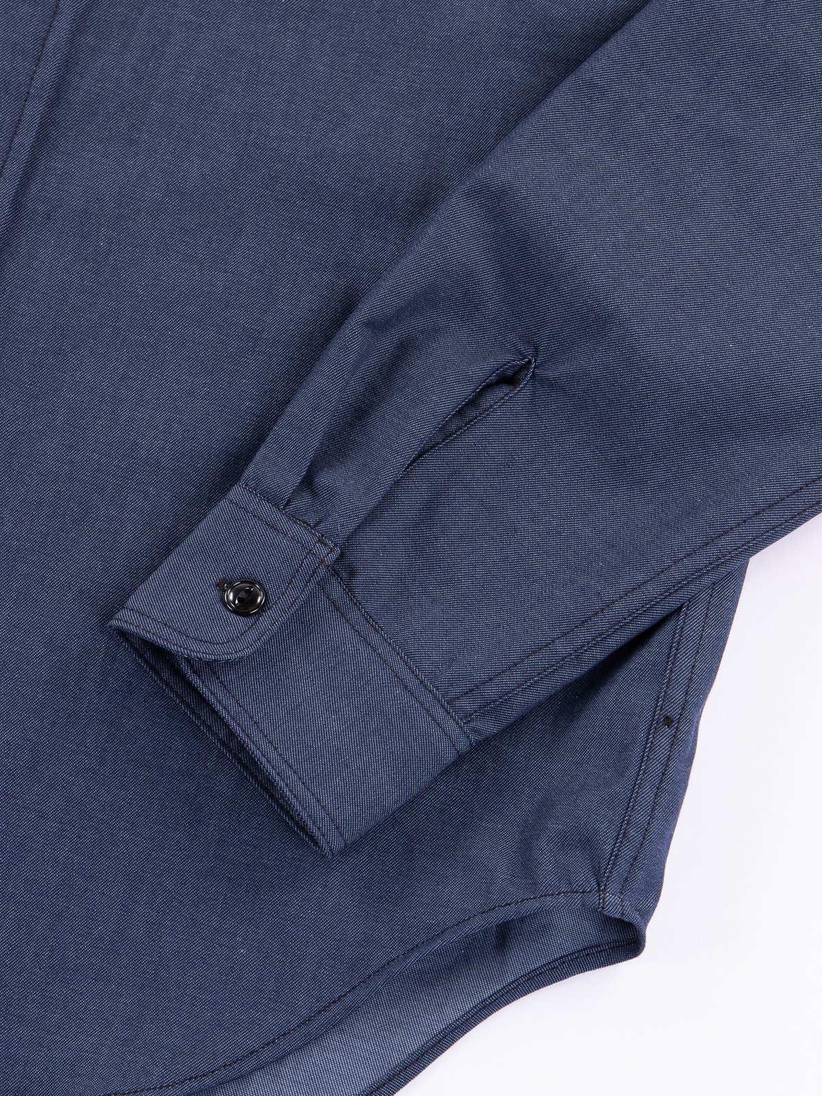 Indigo Cotton Denim Utility Shirt - Image 3