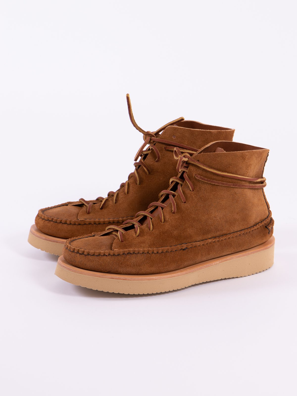 Golden Brown All Handsewn Sneaker Moc High Boot - Image 3