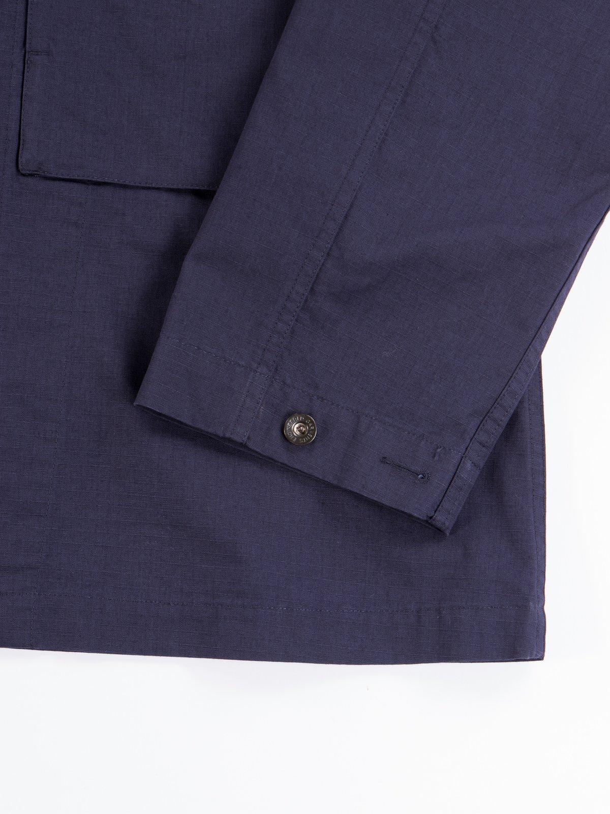 Dark Navy Cotton Ripstop M43/2 Shirt Jacket - Image 5