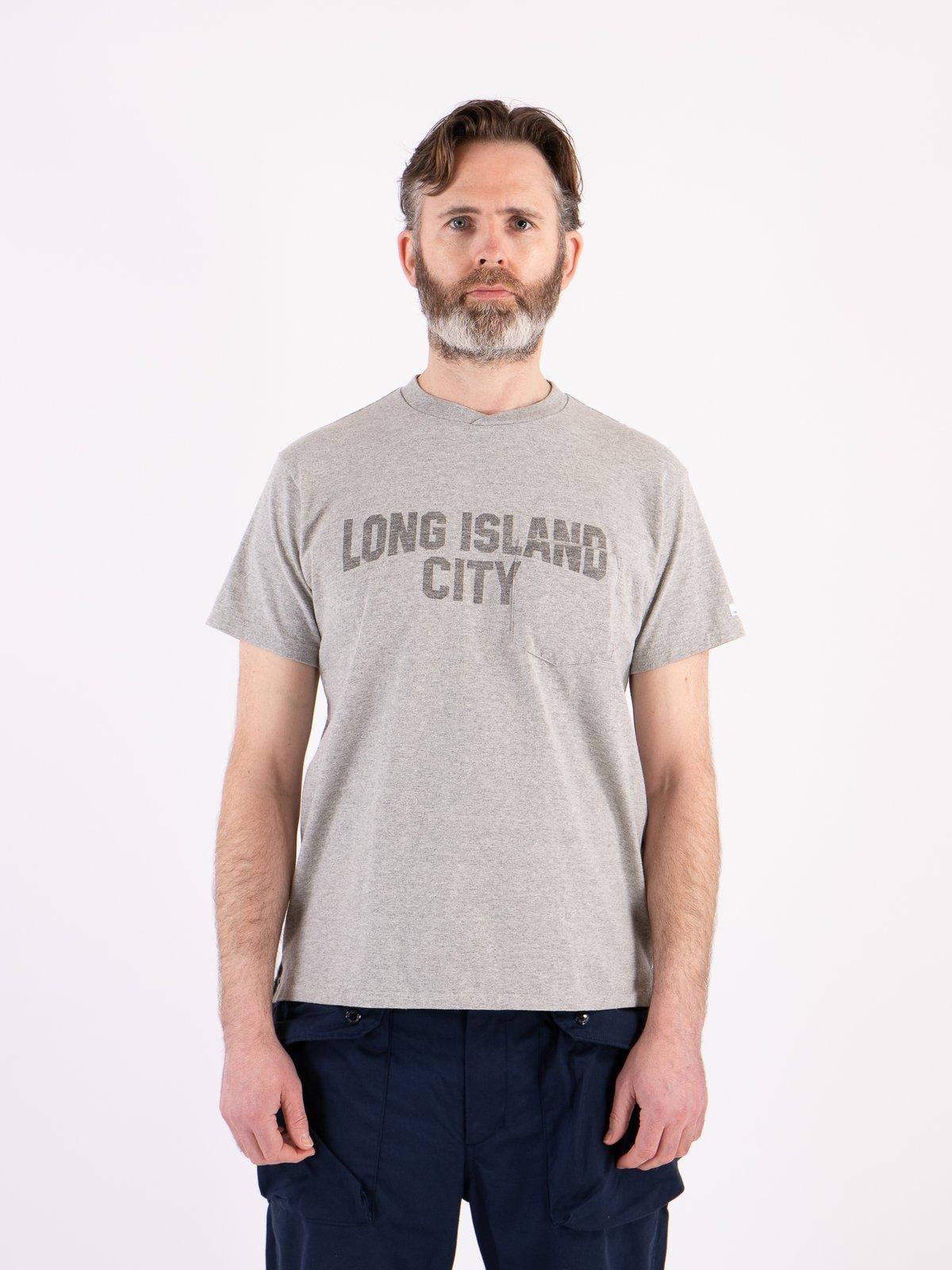 Grey Long Island City Printed T–Shirt - Image 2