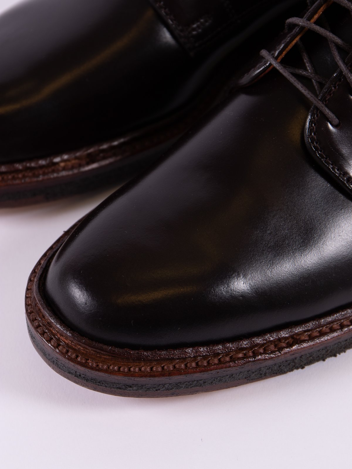 Color 8 Cordovan Plain Toe Blucher with Crepe Sole - Image 3