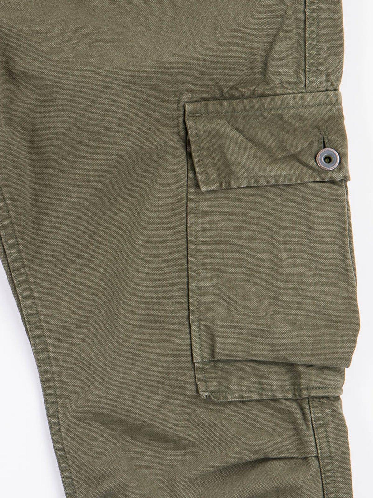 Olive Light Canvas Ringo Man Cargo Pant - Image 3