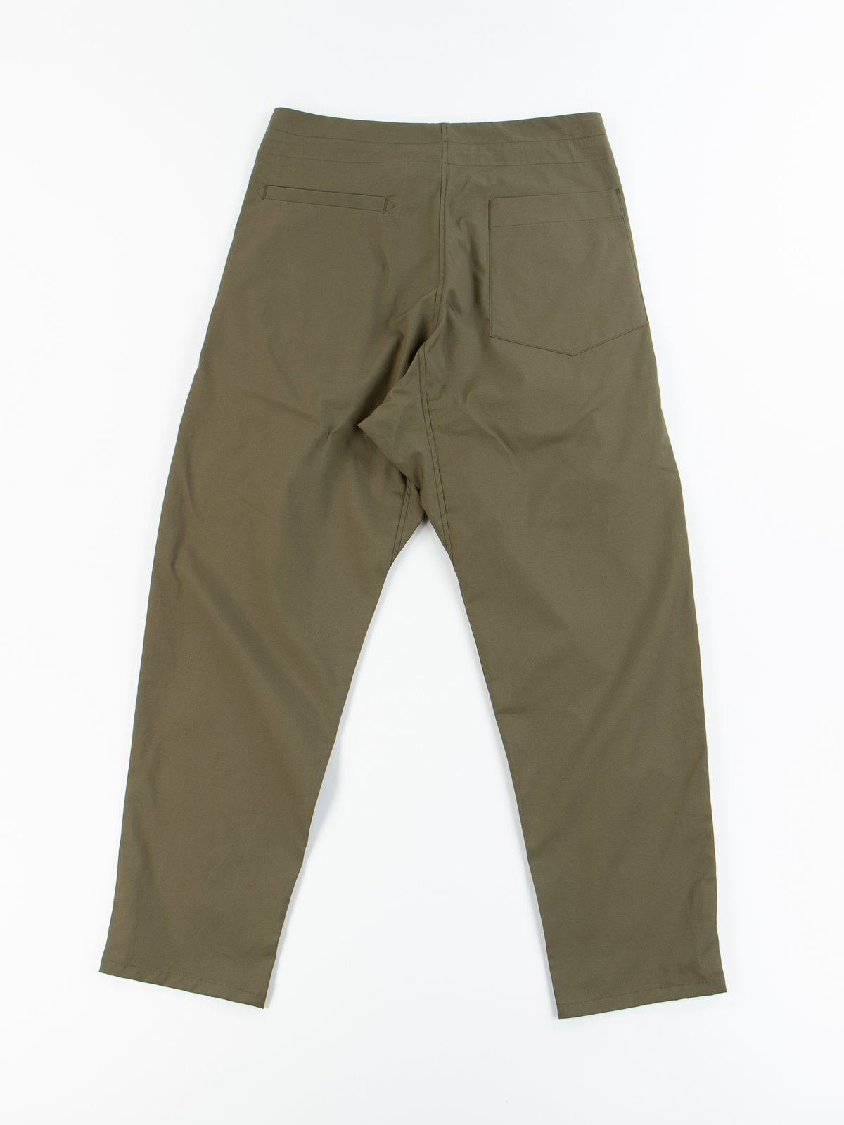 Olive Oxford Vancloth Drop Crotch Pant - Image 5