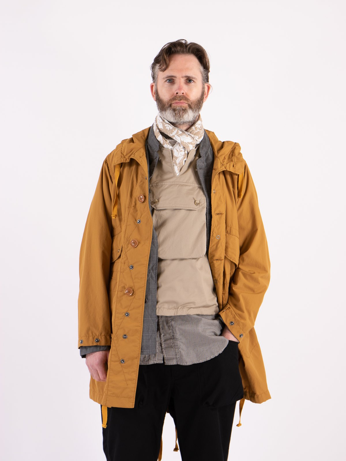 Khaki High Count Twill Cover Vest - Image 2