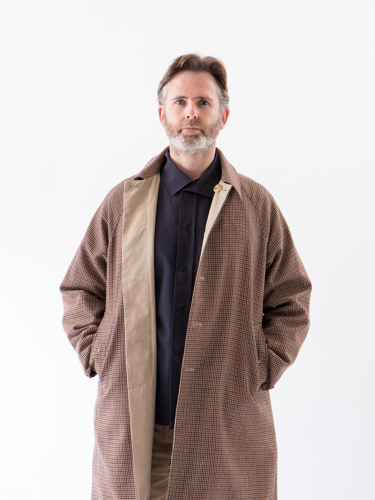 Light Khaki/Gunclub Reversible Balmacaan Coat - Image 3