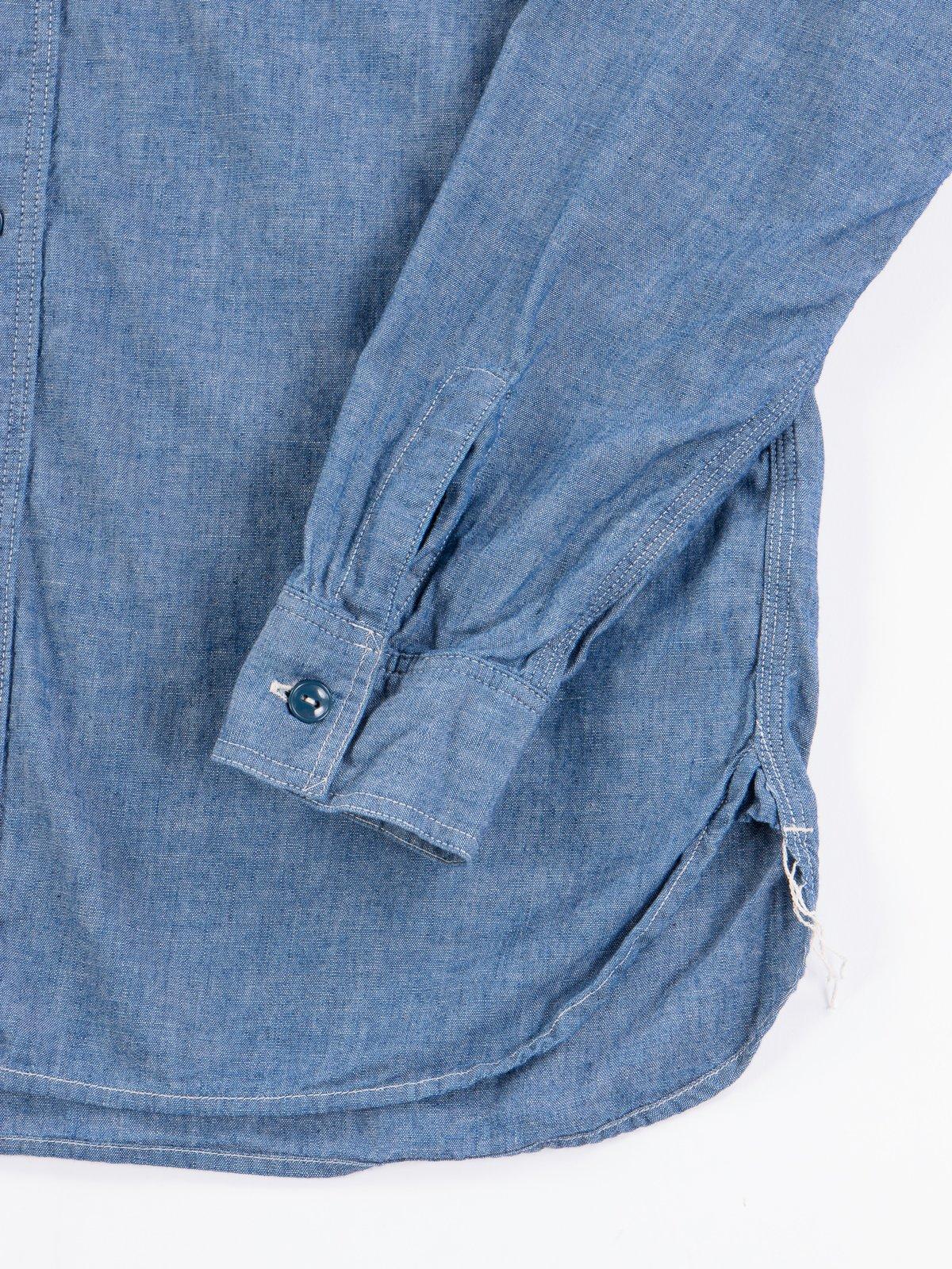 Blue Chambray Work Shirt - Image 4
