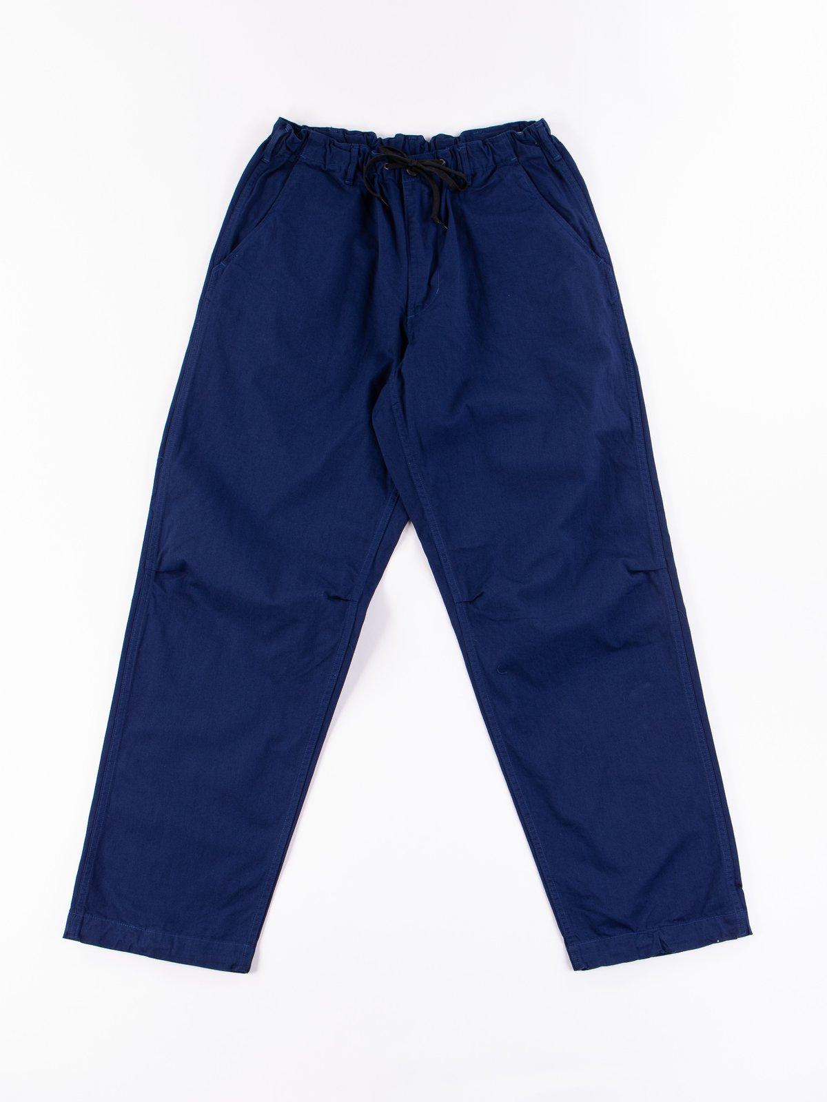 Ink Blue Herringbone TBB Service Pant - Image 1