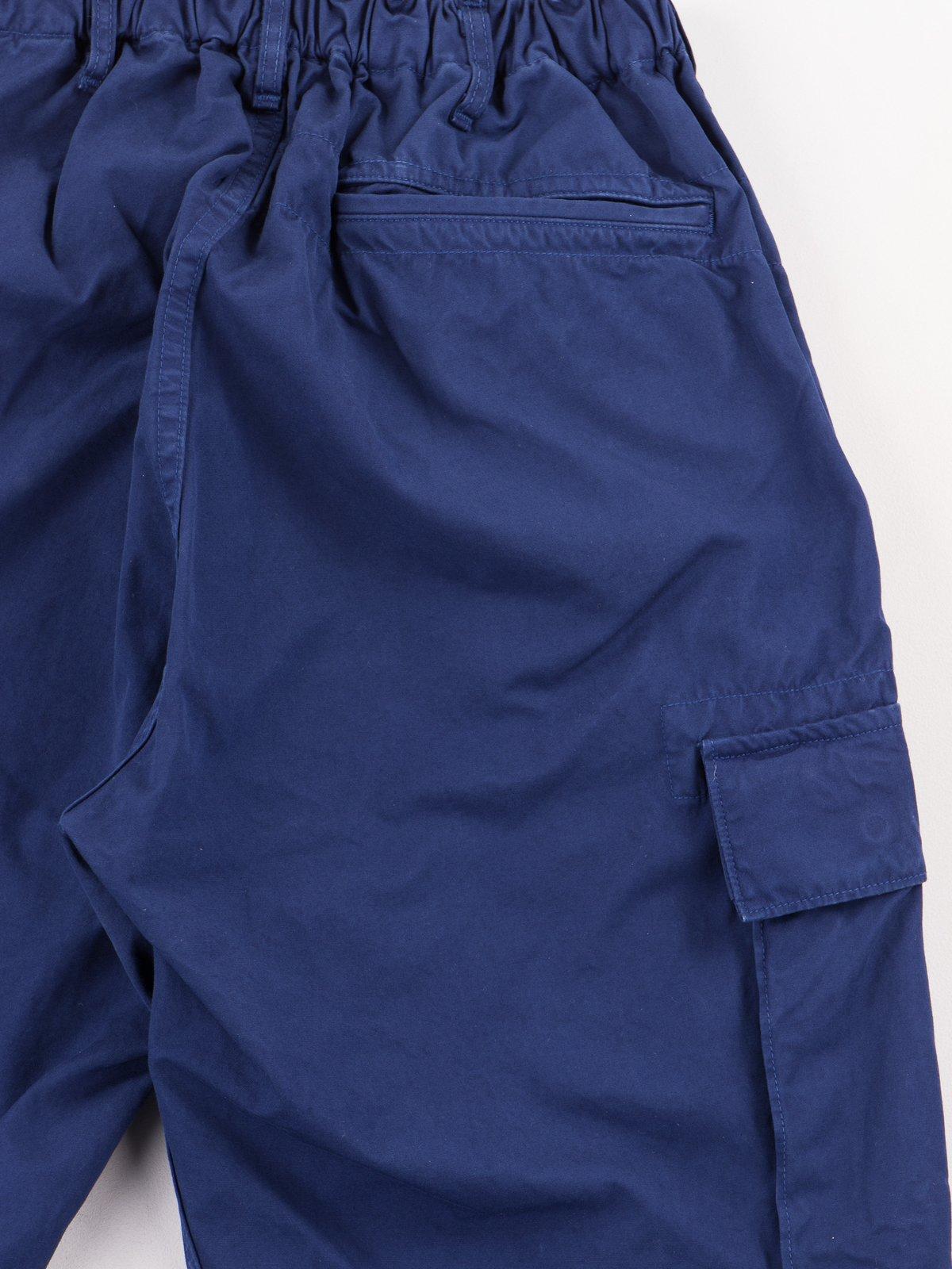 Ink Blue Poplin Easy Cargo Pant - Image 8