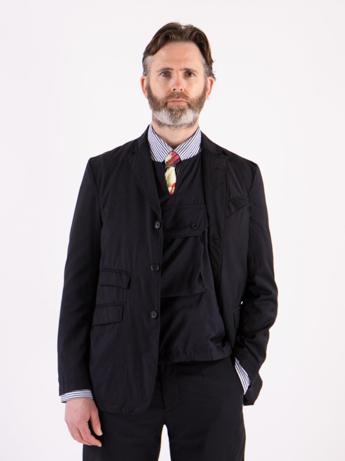 Dark Navy Tropical Wool Andover Jacket - Image 2
