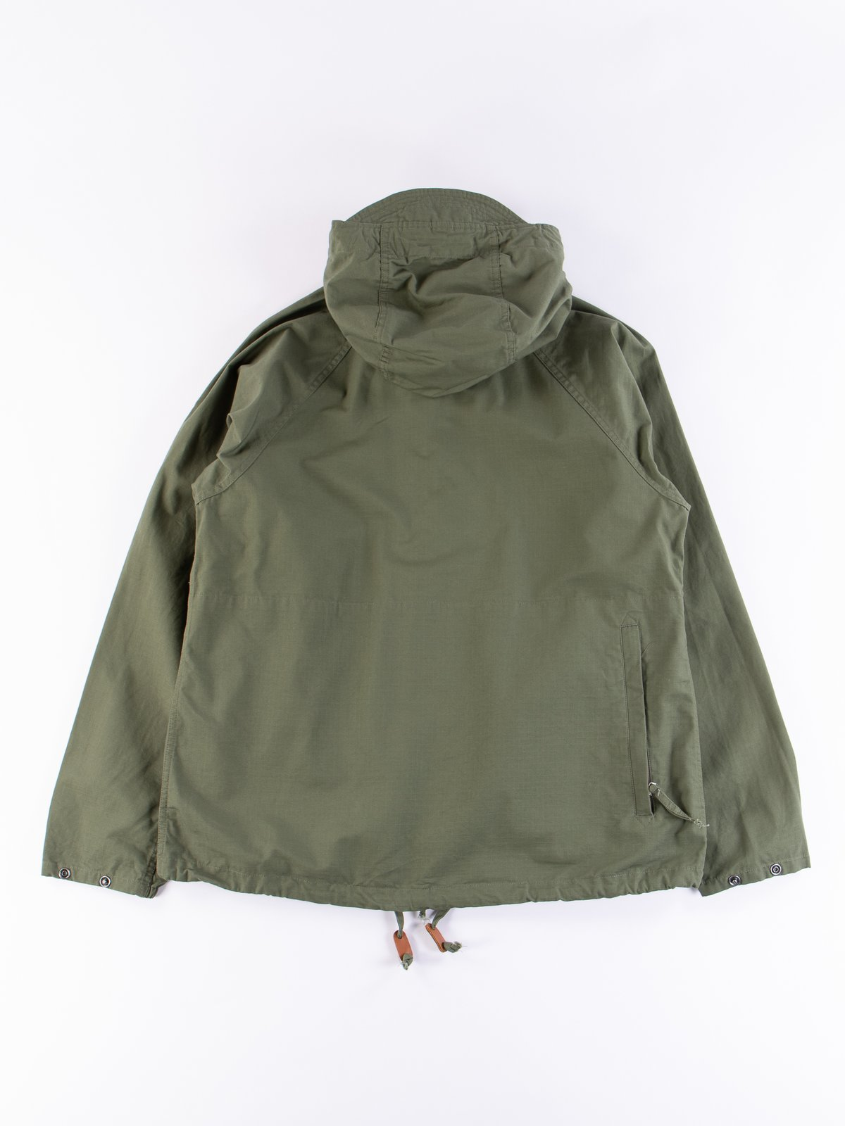 Olive Cotton Ripstop Atlantic Parka - Image 5