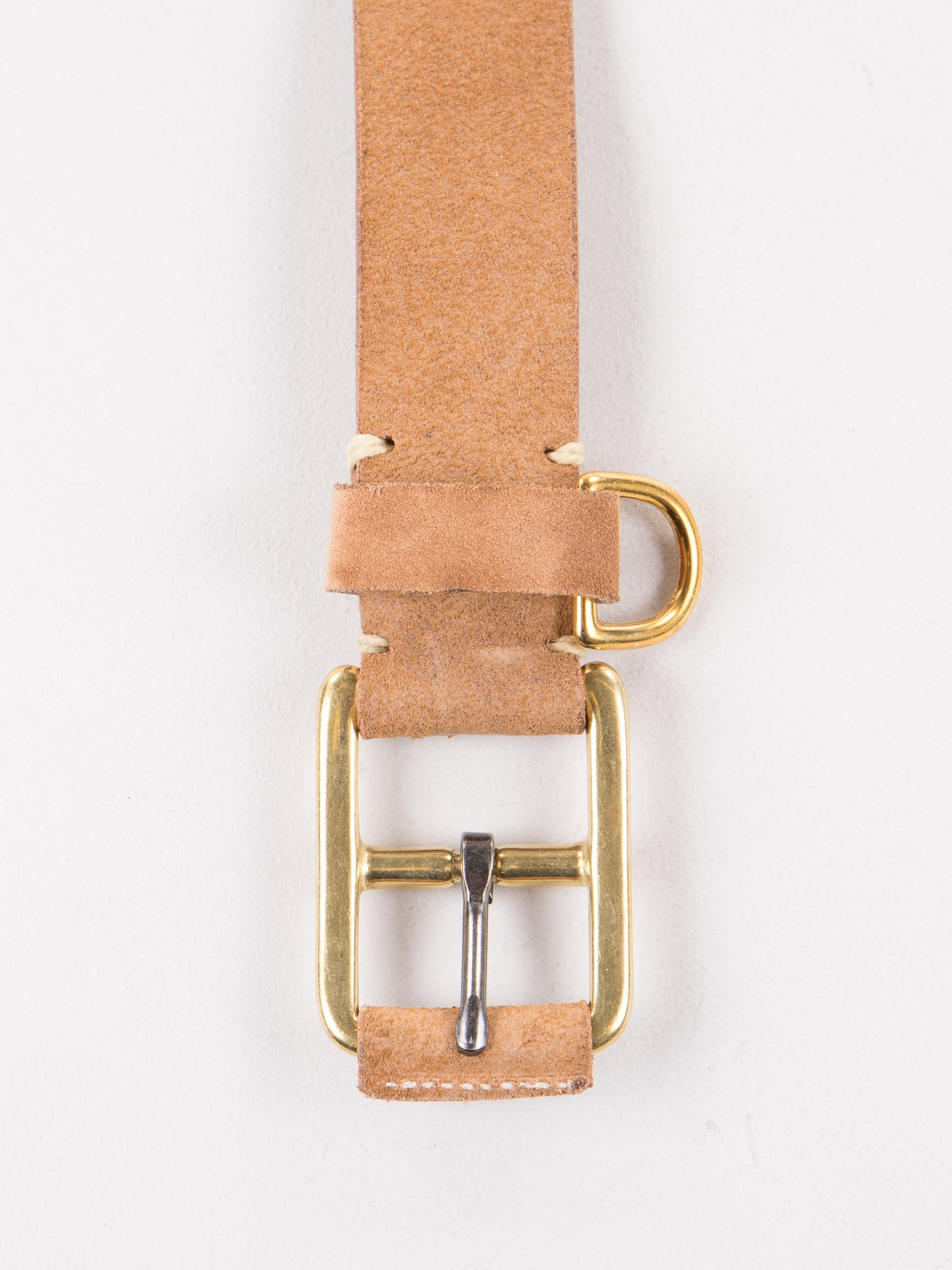 G Brown FO Stitched D–Ring Belt - Image 1