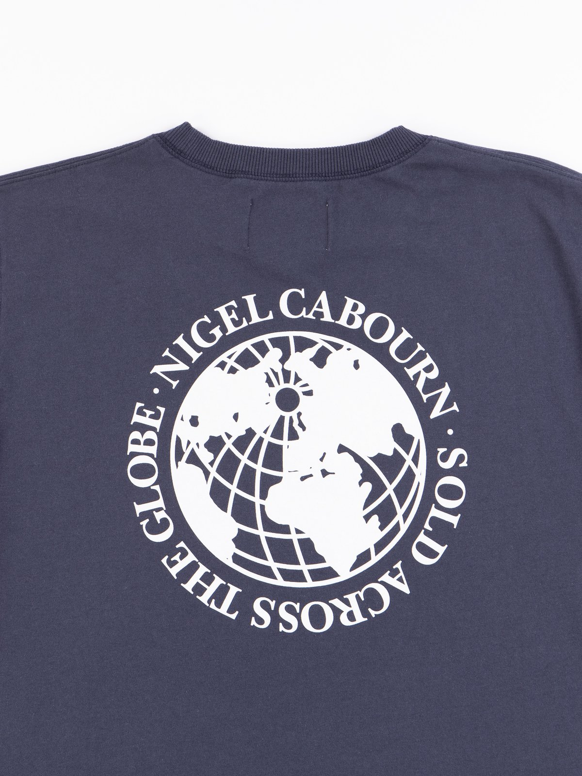 Navy Globe Back Print Tee - Image 5