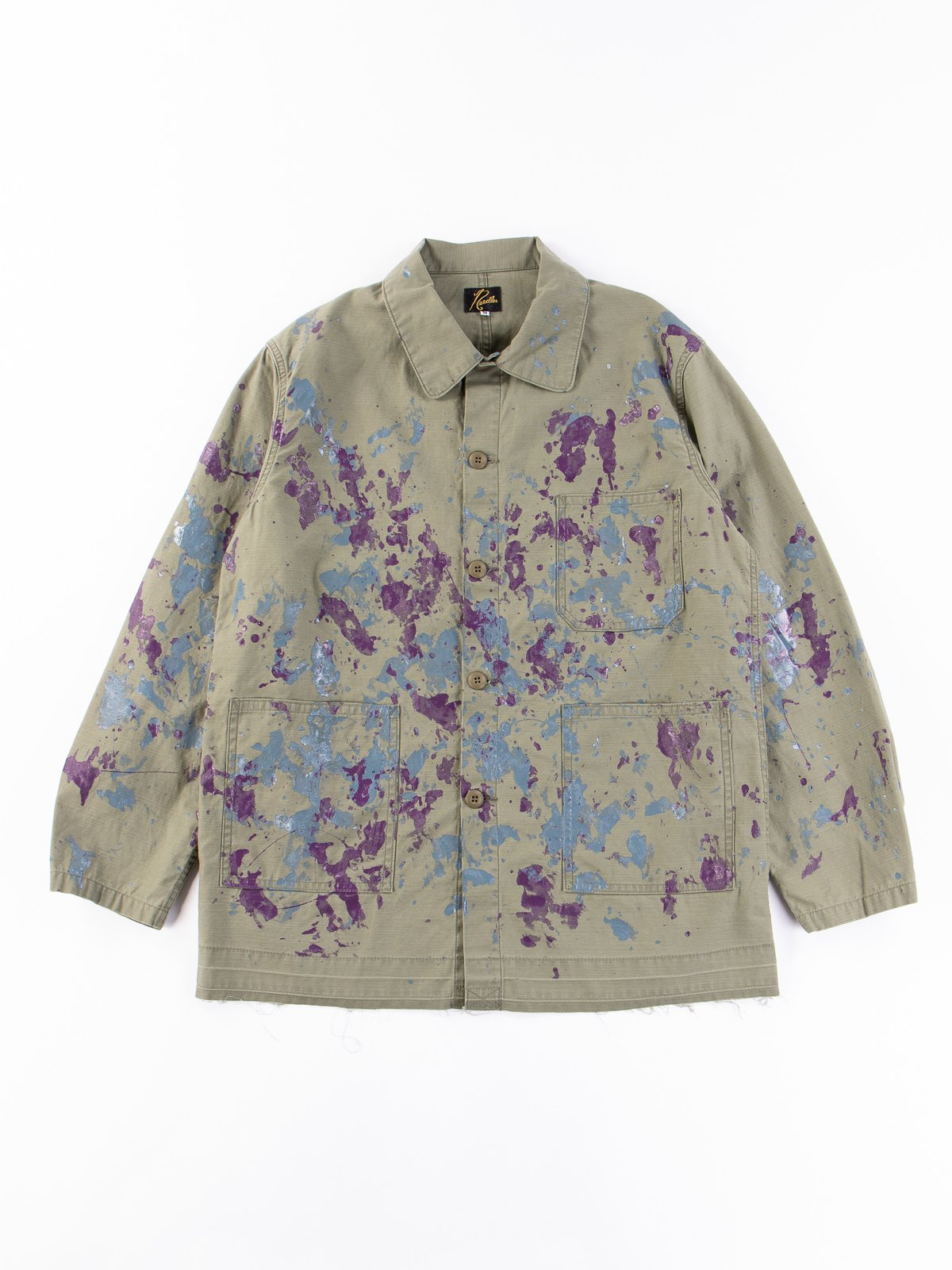 Olive Paint Sateen D.N Coverall - Image 1