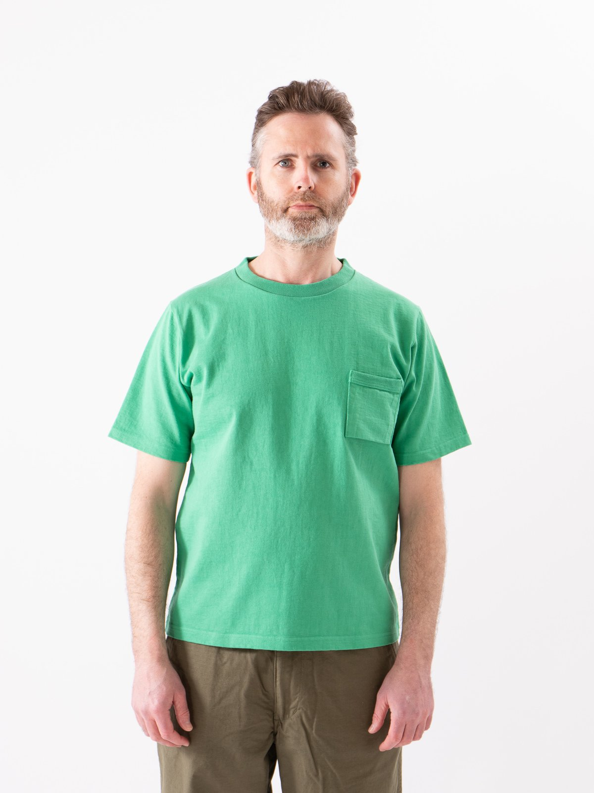 Kelly Green Dotsume Pocket T–Shirt - Image 2