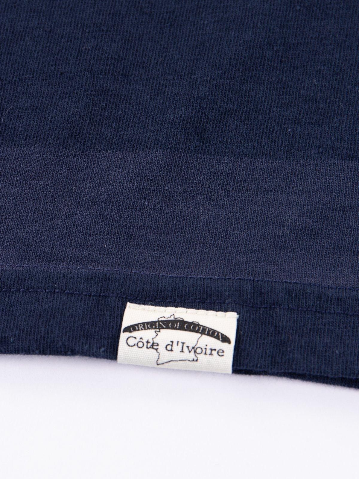 Navy Stripe Cote D'Ivoire Cotton T–Shirt - Image 4
