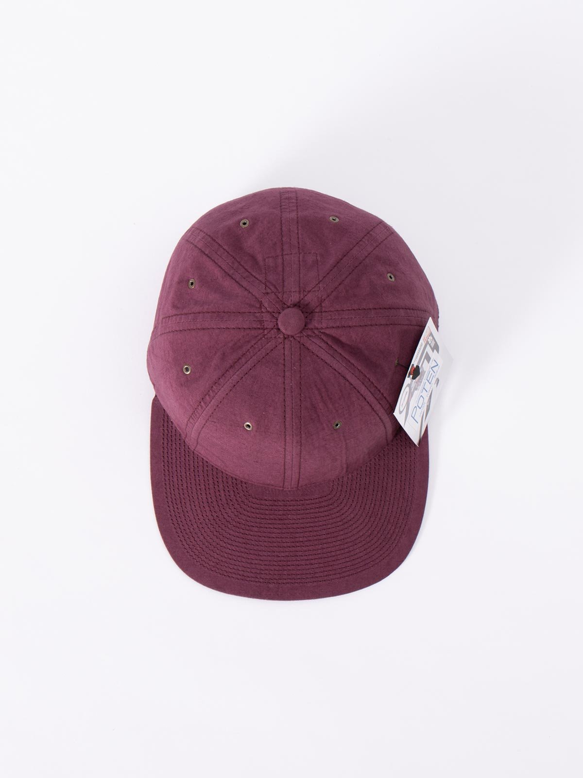 WINE SPECIAL DYED COTTON / LINEN CAP - Image 3