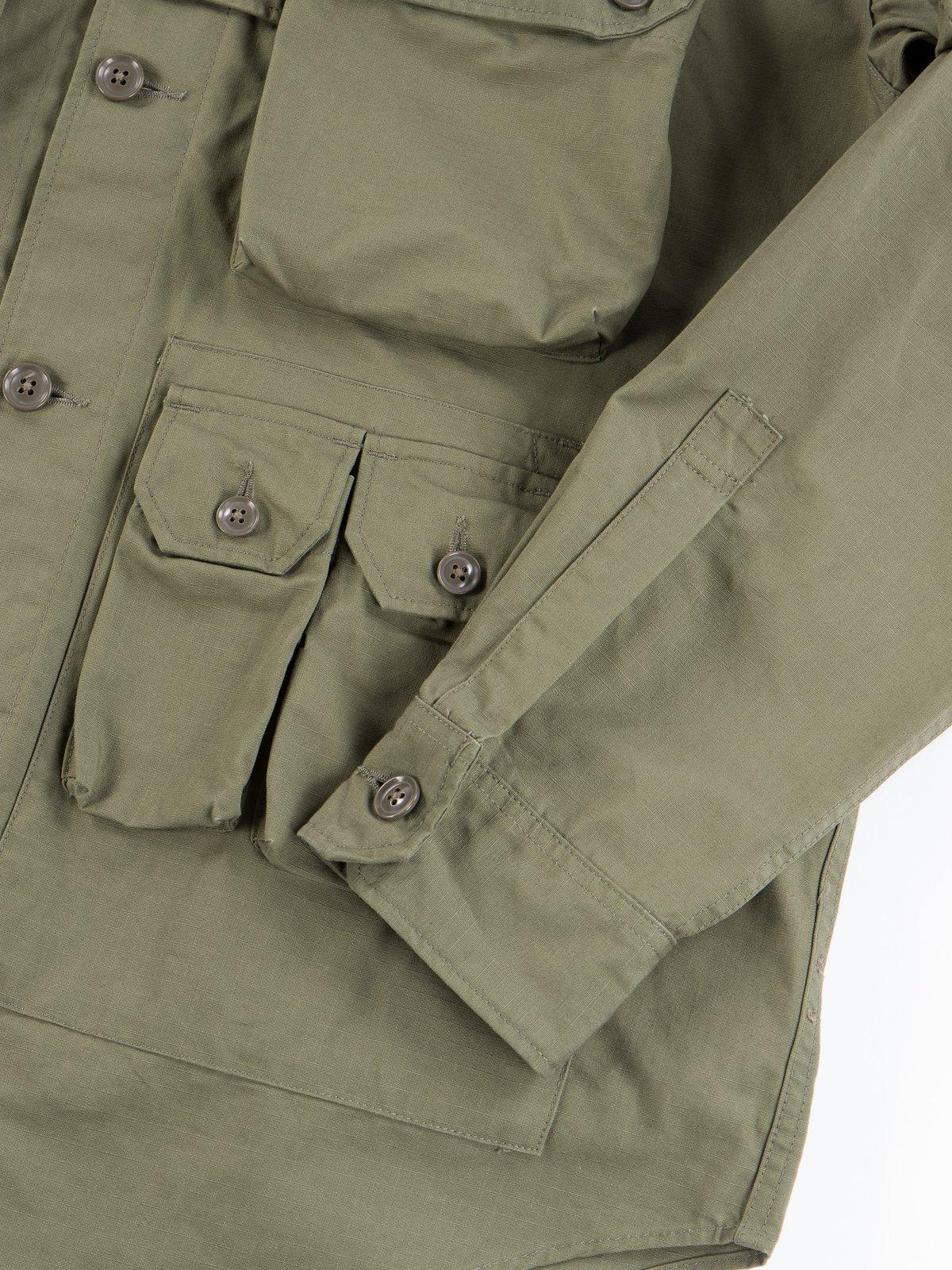 Olive Cotton Ripstop Explorer Shirt Jacket - Image 6