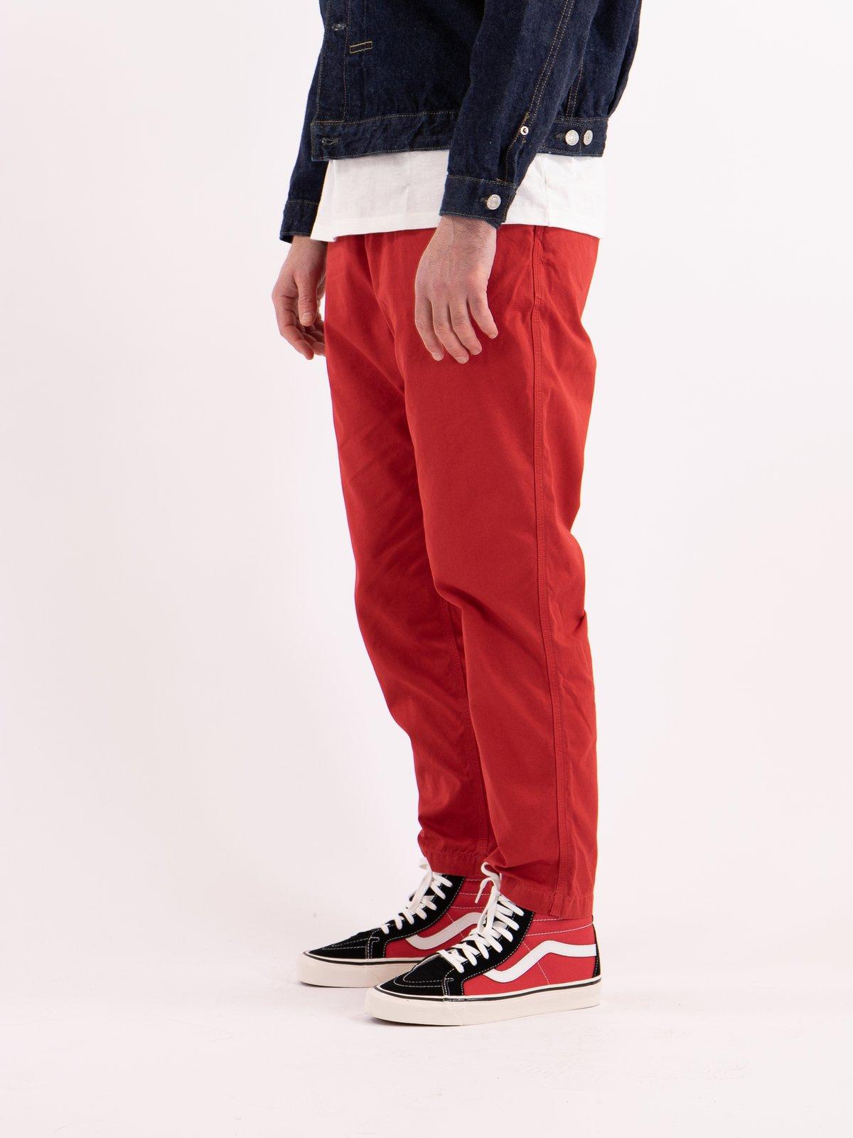 Red Overdyed Poplin Climbing Pant - Image 3