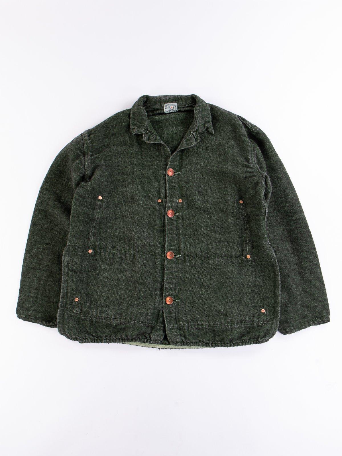 Viridian/Black Cotton/Mohair Janus Jacket - Image 1