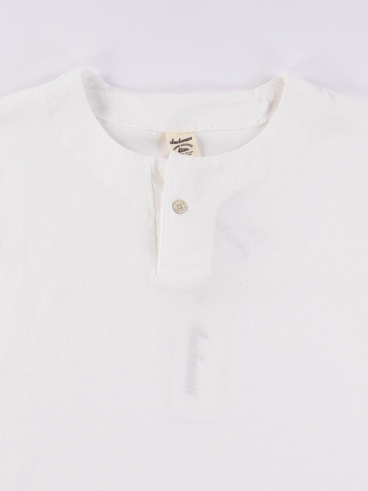 White Henley T–Shirt - Image 3