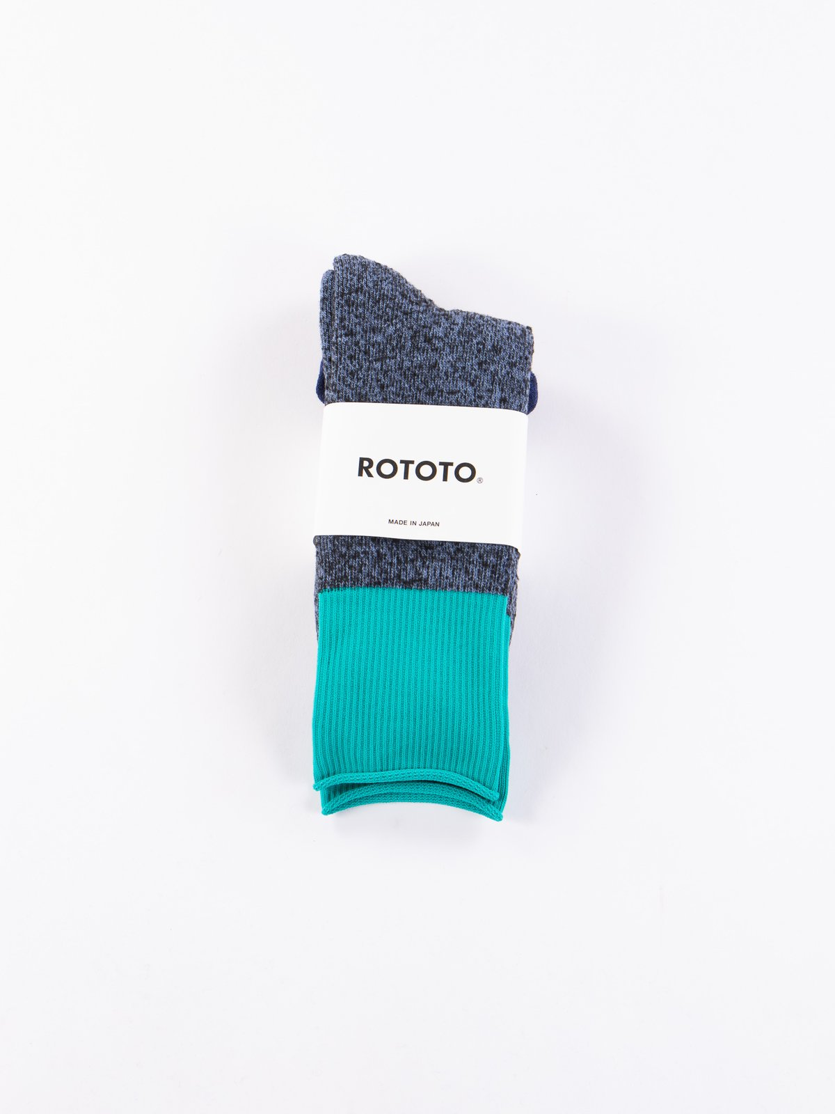 Blue/Turquoise Thermo Fleece Double Face Crew Socks - Image 2