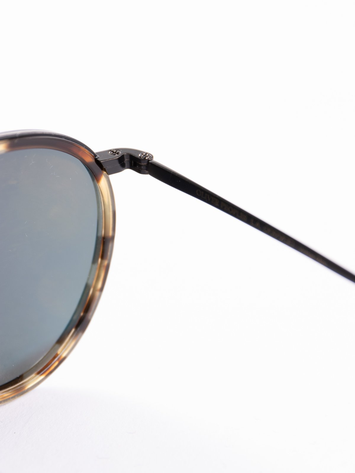 Hickory Tortoise–Matte Black/Dark Grey Mirror Gold MP–2 Sunglasses - Image 4