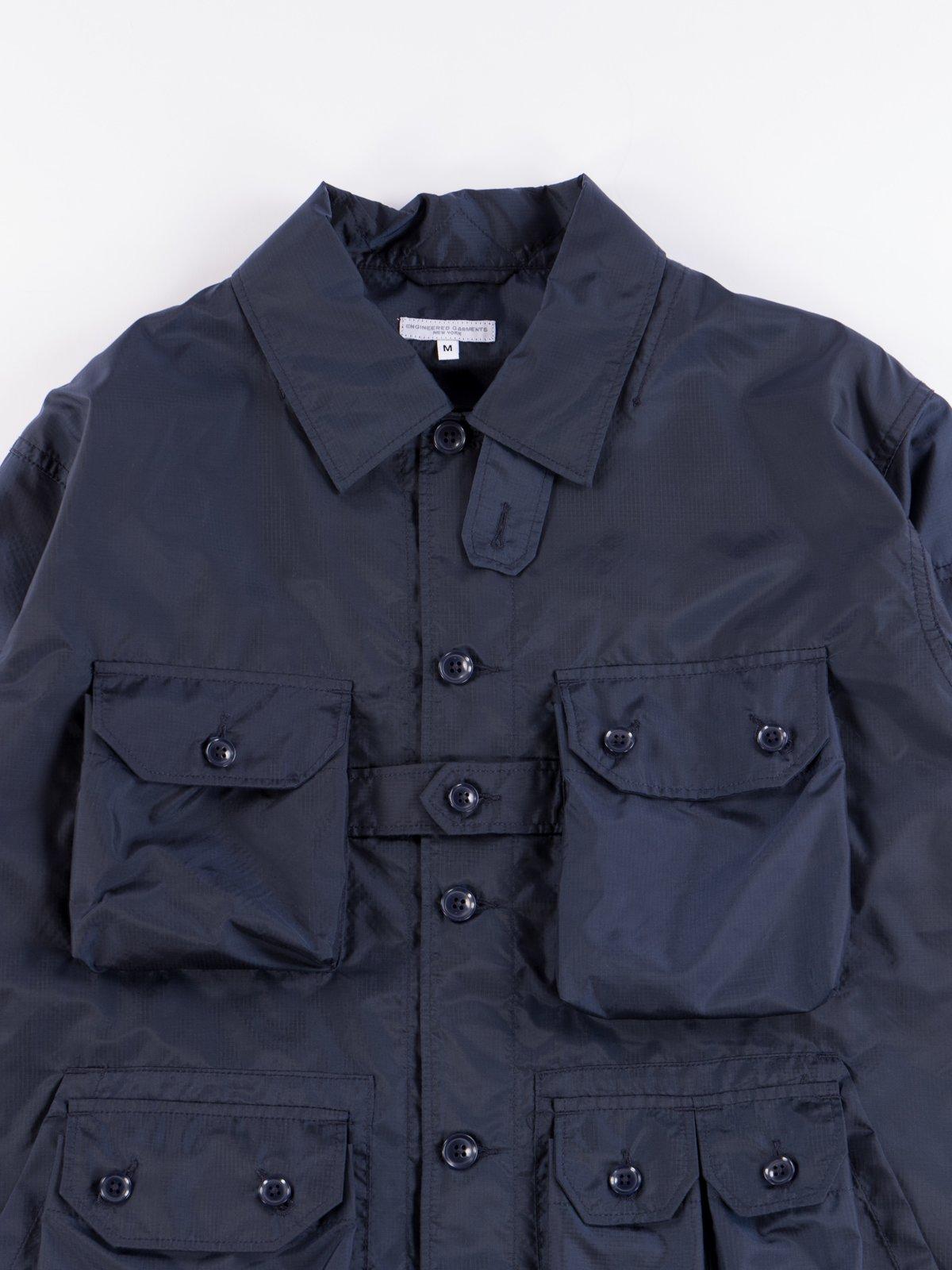 Navy Nylon Micro Ripstop Explorer Shirt Jacket  - Image 4