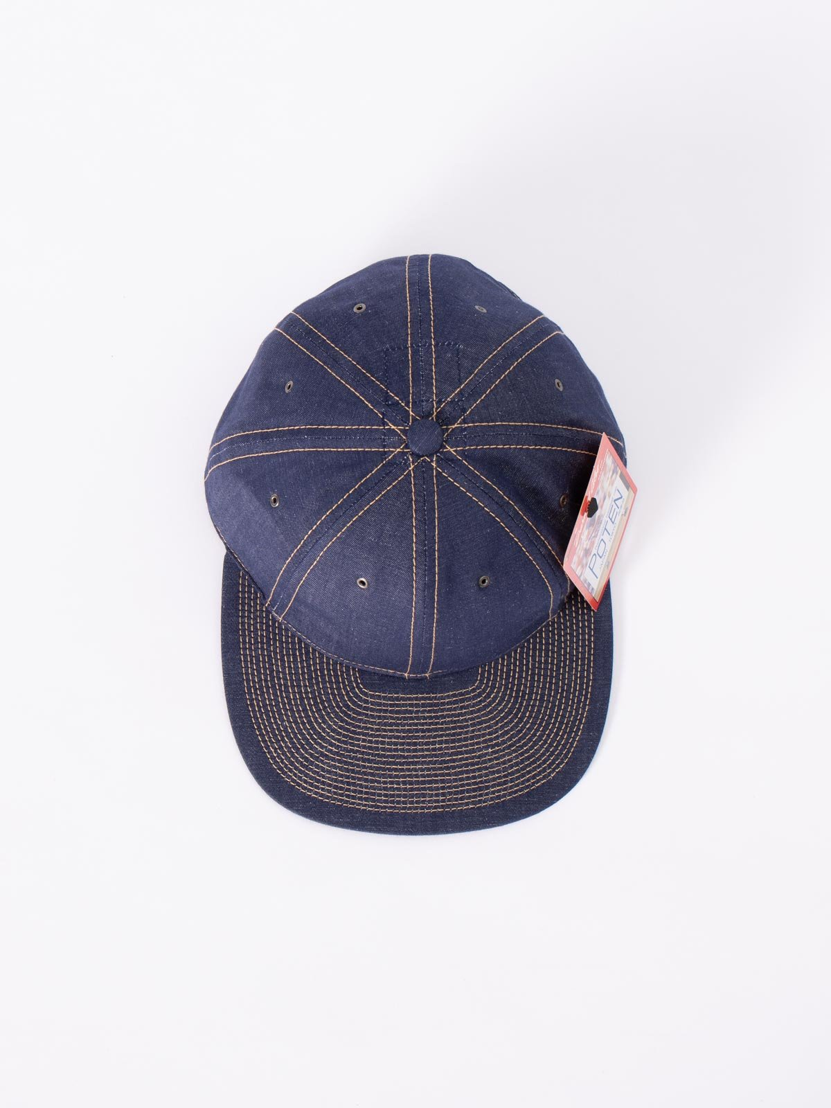 NAVY COTTON LINEN CAP - Image 3