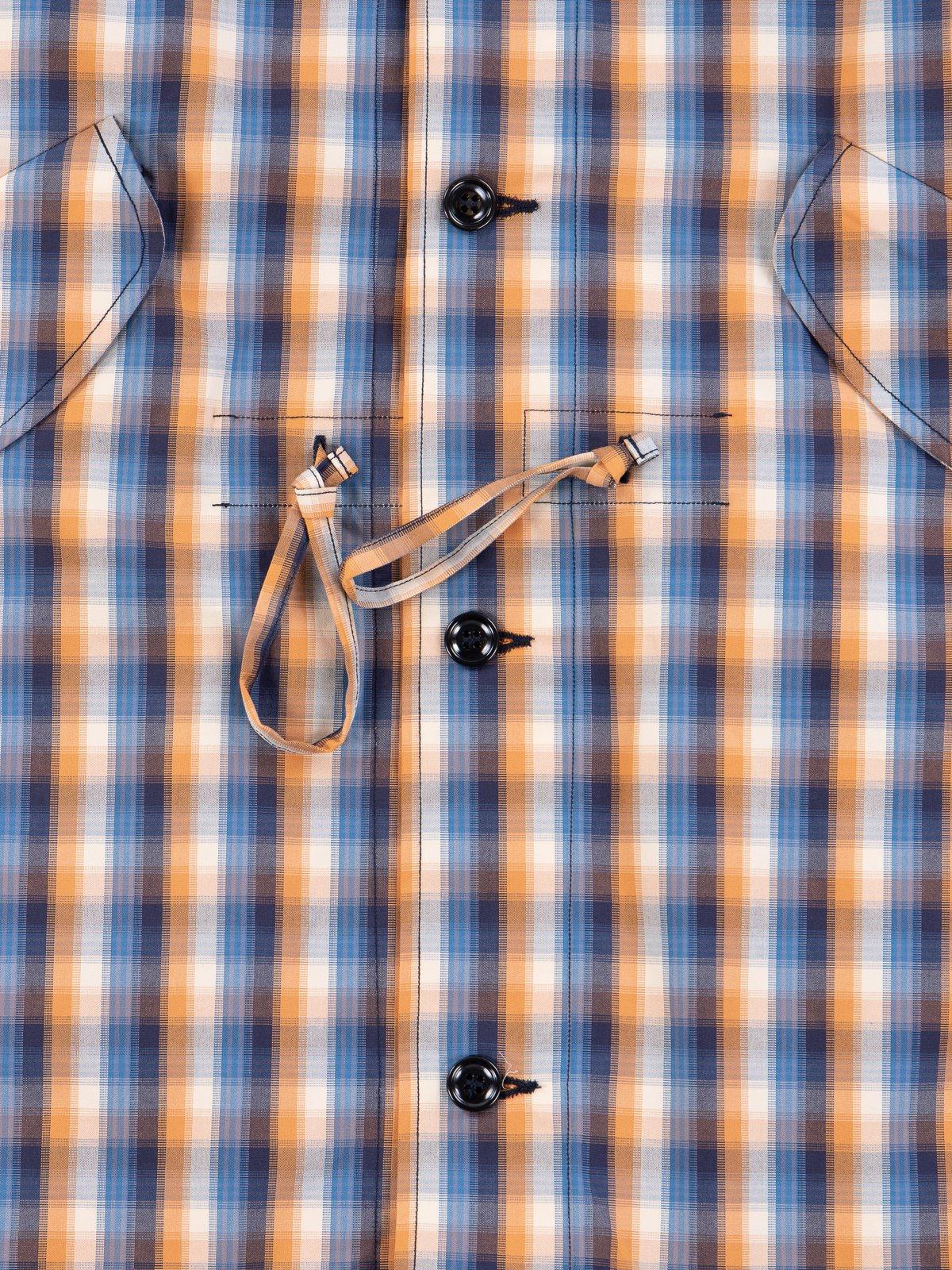 Blue/Orange Plaid Oxford Vancloth Czech Coat - Image 4