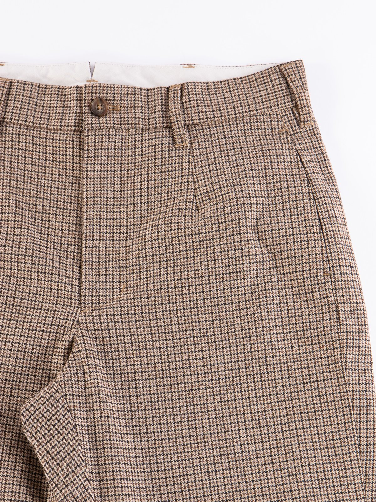 Brown Wool Poly Gunclub Check Andover Pant - Image 4