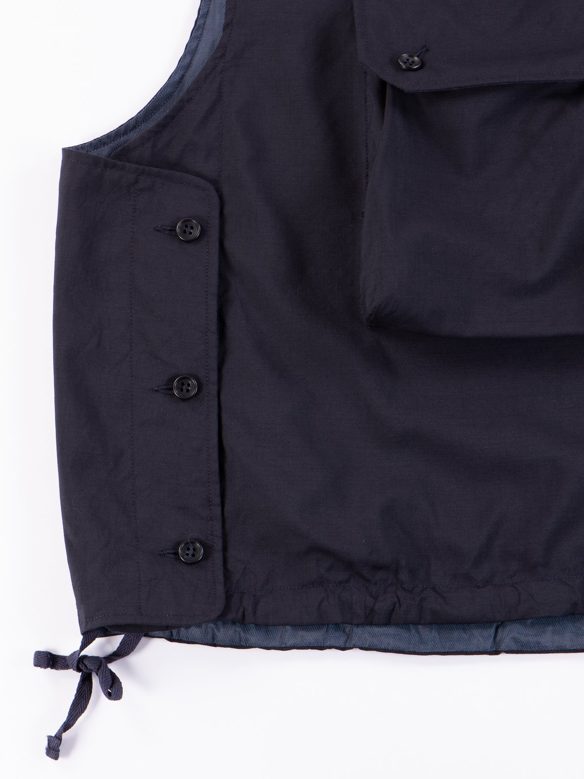 Dark Navy Tropical Wool Cover Vest - Image 4