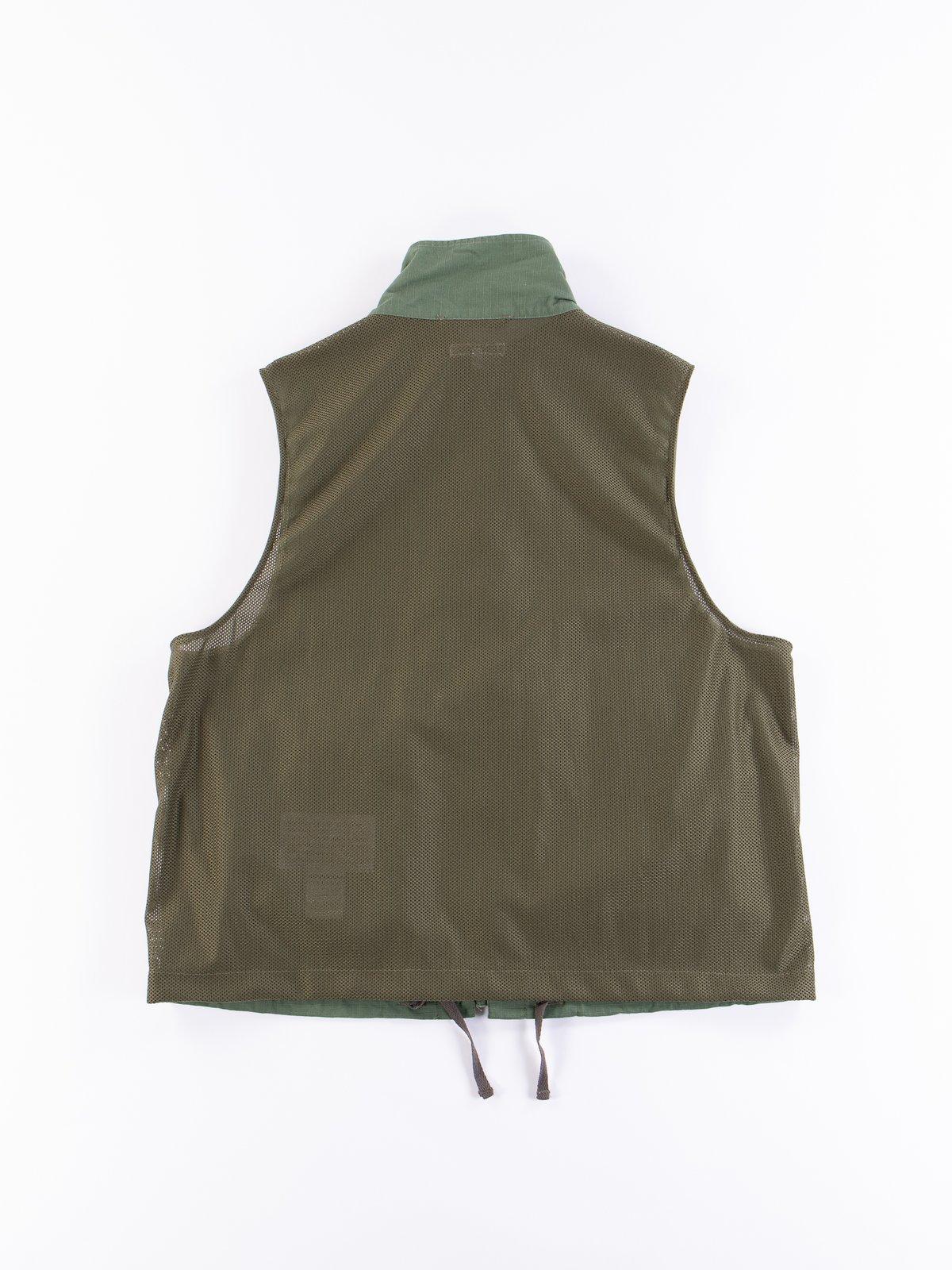 Olive Cotton Ripstop Field Vest - Image 5