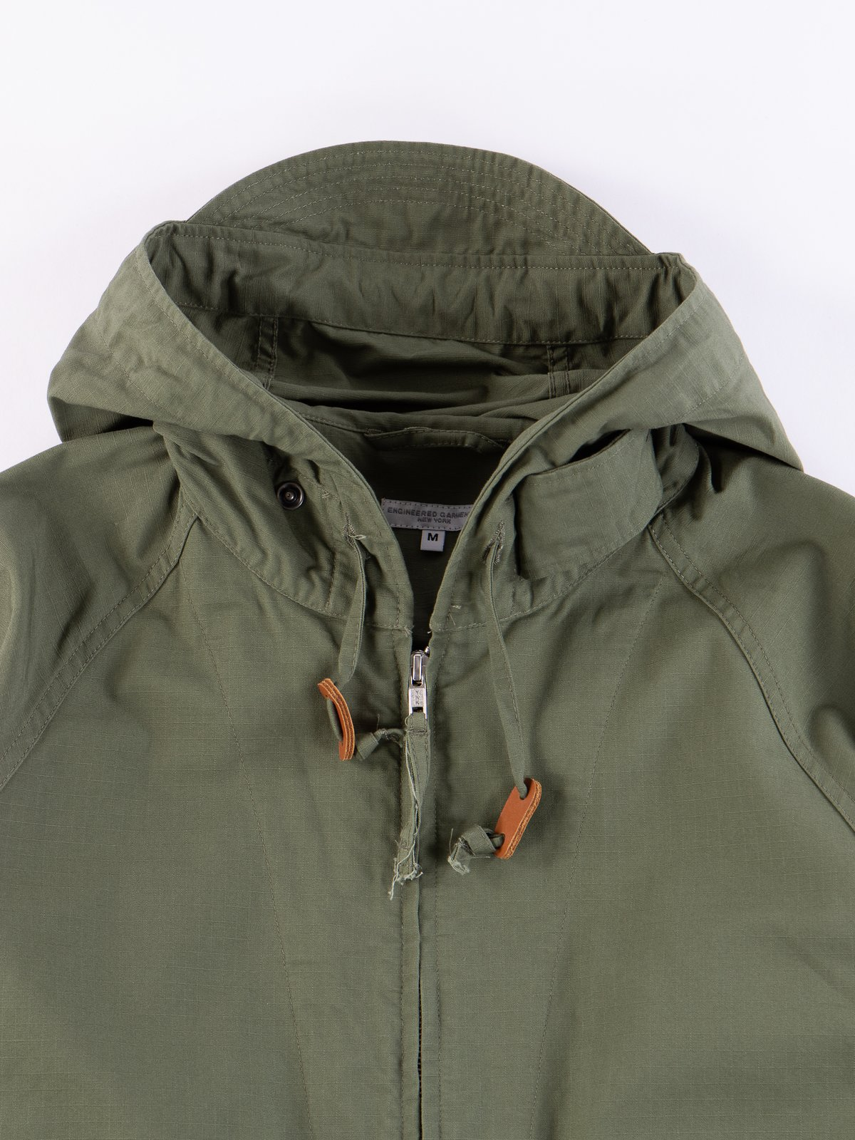 Olive Cotton Ripstop Atlantic Parka - Image 3
