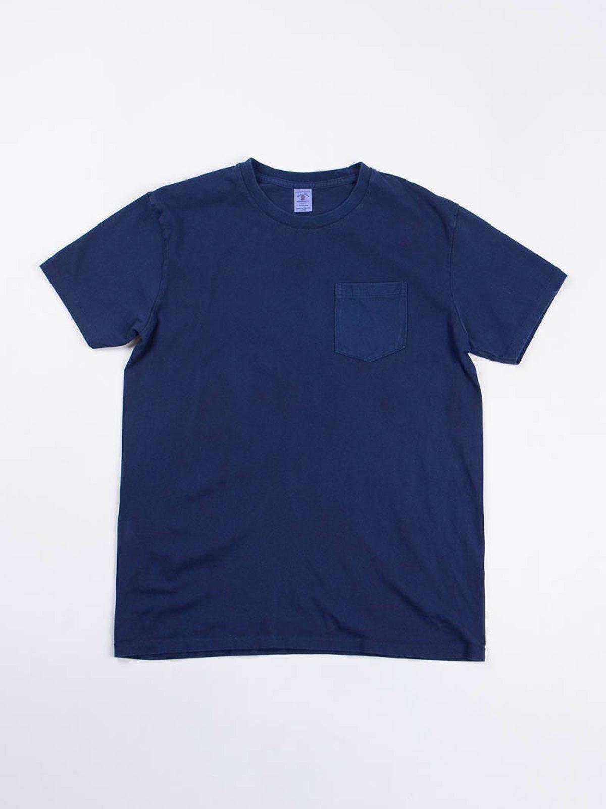 Blue Indigo 1–Pac Pocket Tee - Image 2