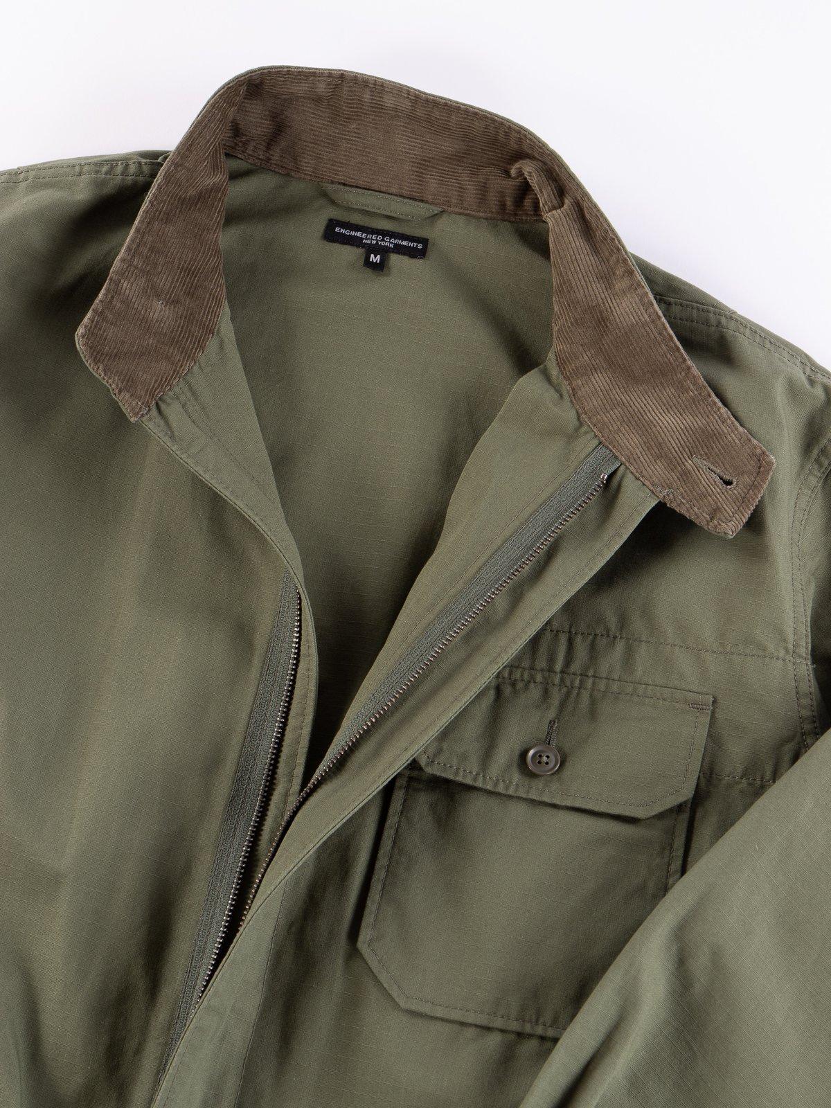 Olive Cotton Ripstop Boiler Suit - Image 6