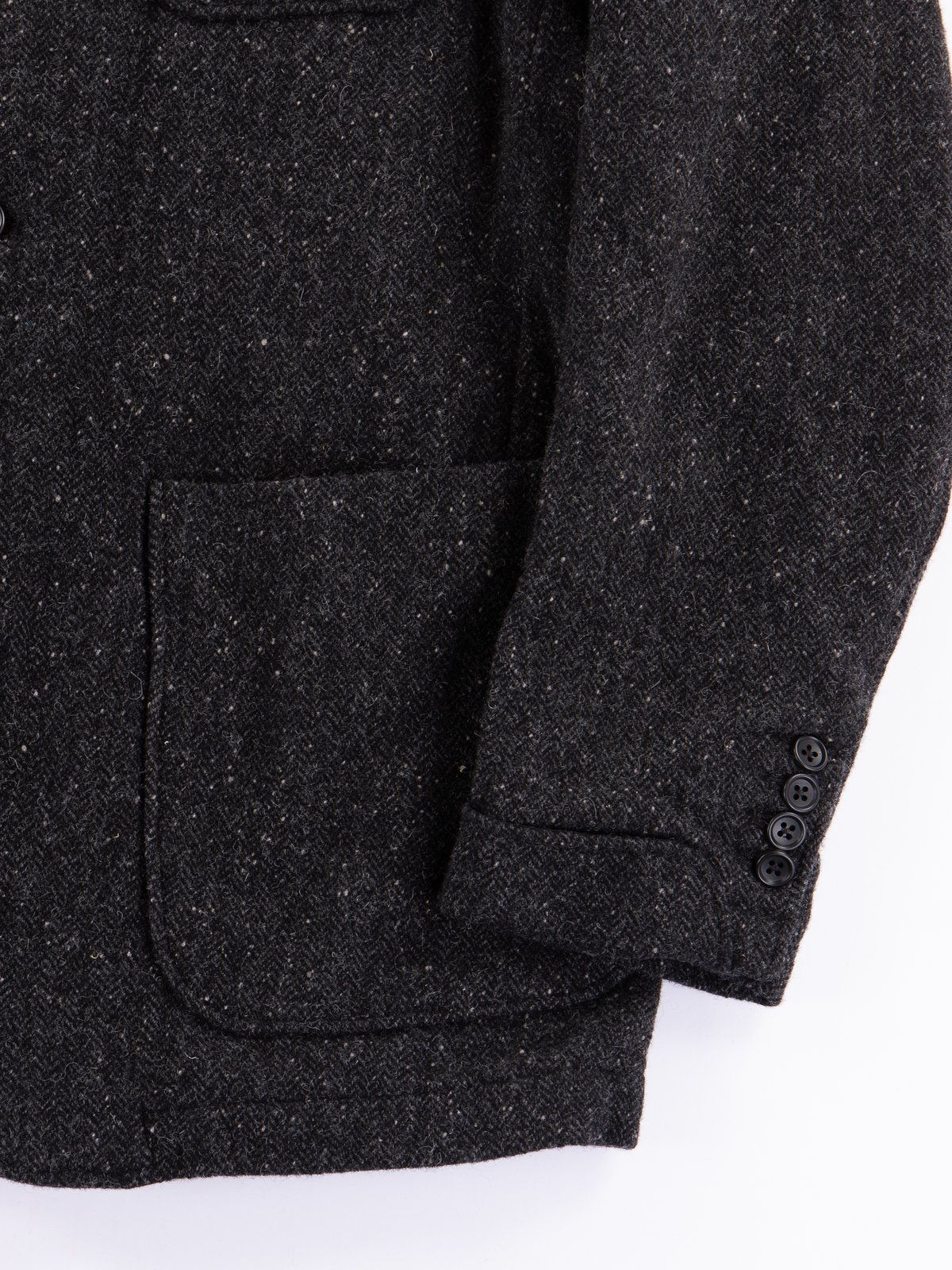 Charcoal HB Tweed Grim Jacket - Image 5