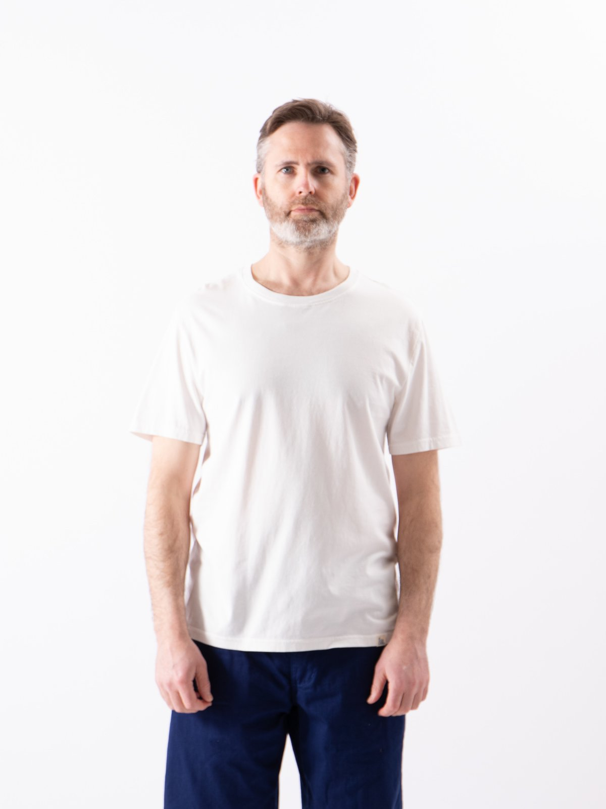 White Good Basics CT01 Crew Neck Tee - Image 2