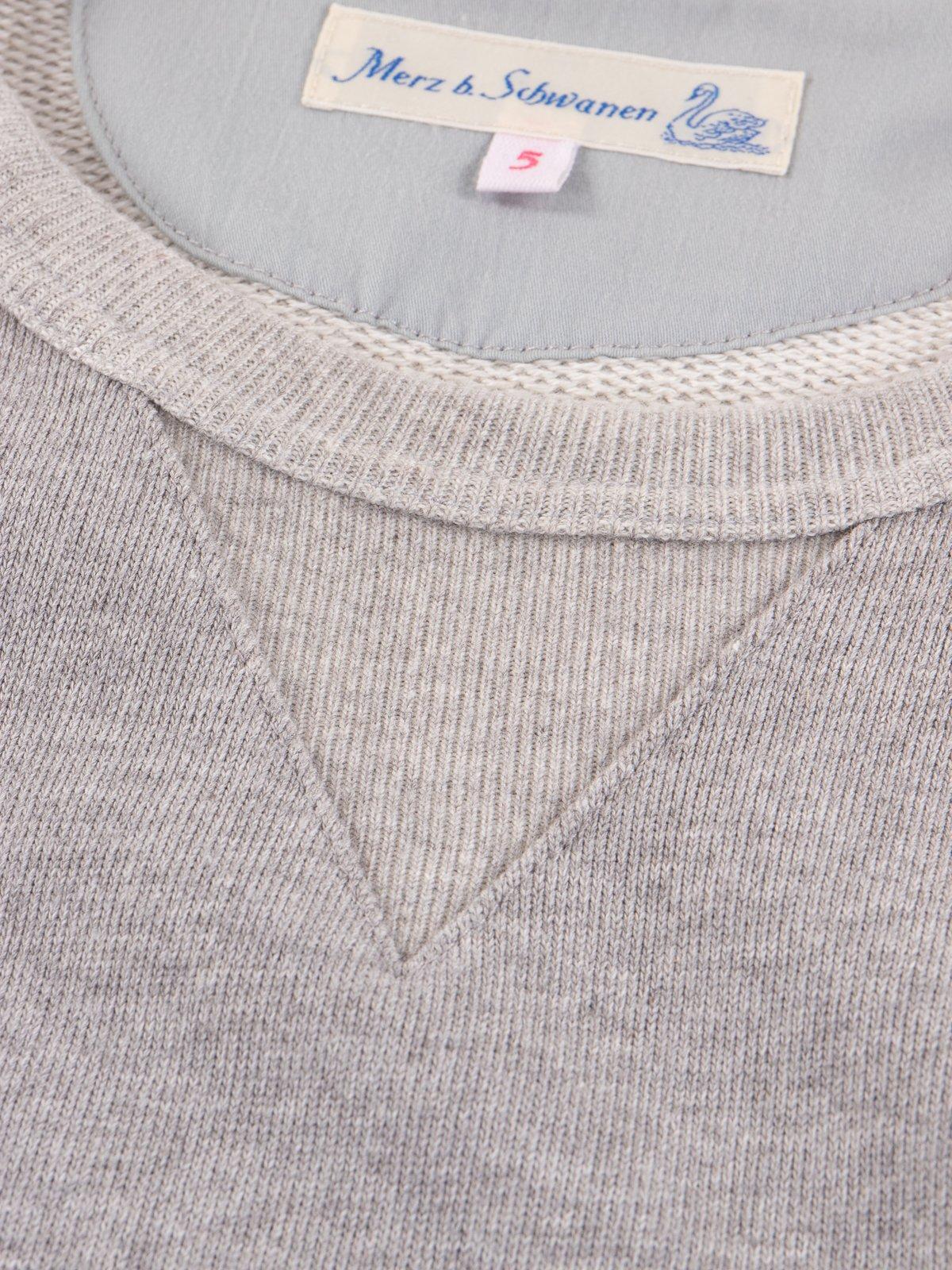 Grey Melange 3S48 Organic Cotton Heavy Sweater - Image 4