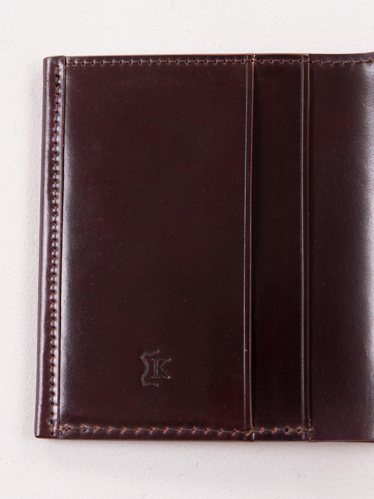 Color 8 Horween Cordovan 2–2 Wallet - Image 3
