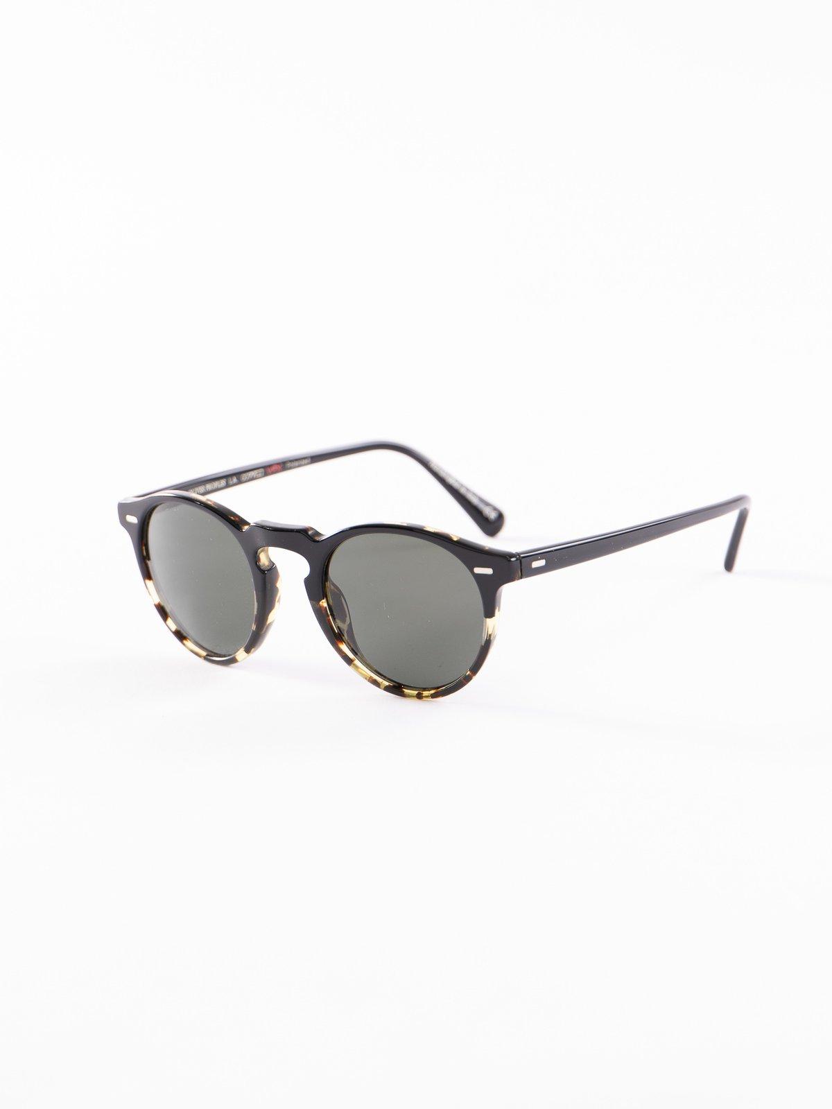 Black–DTBK Gradient/Green Polar Gregory Peck Sunglasses - Image 2