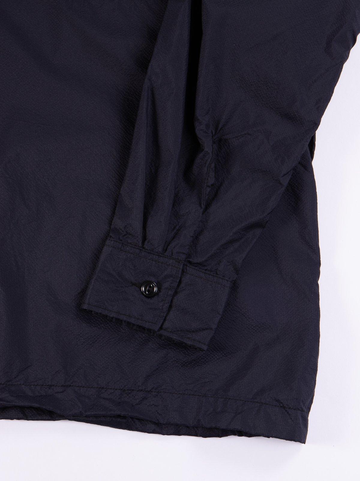 Dark Navy Nylon Micro Ripstop Cagoule Shirt - Image 5