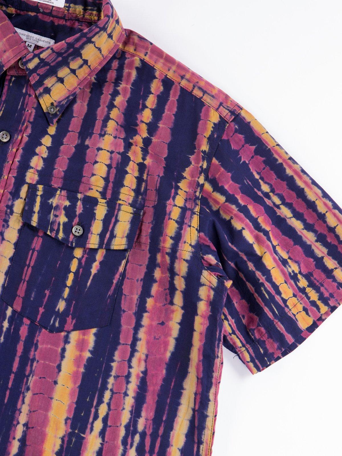 Navy Cotton Lawn Batik Stripe Popover BD Shirt - Image 5