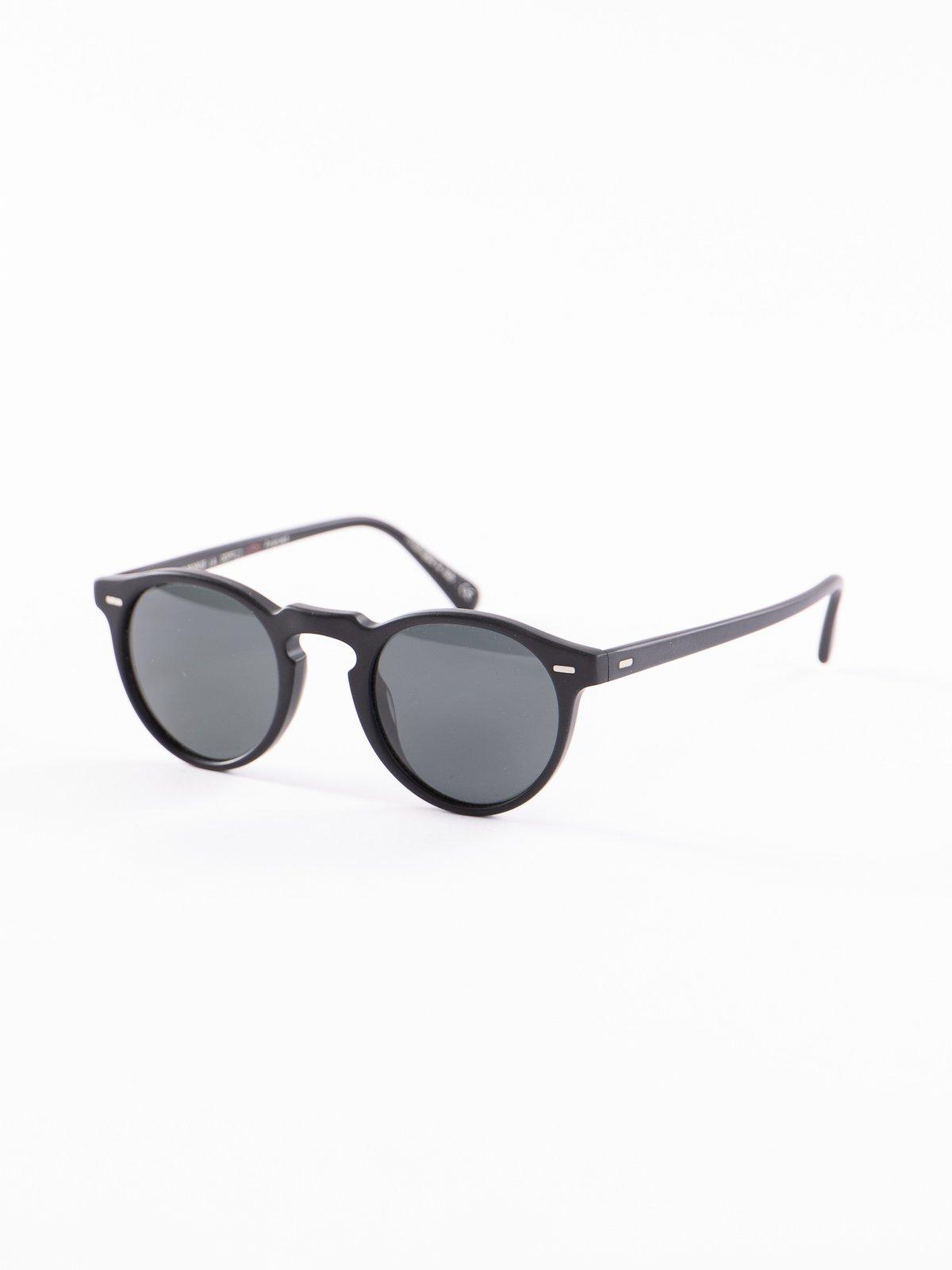 Semi–Matte Black/Dark Grey Polar Gregory Peck Sunglasses - Image 2