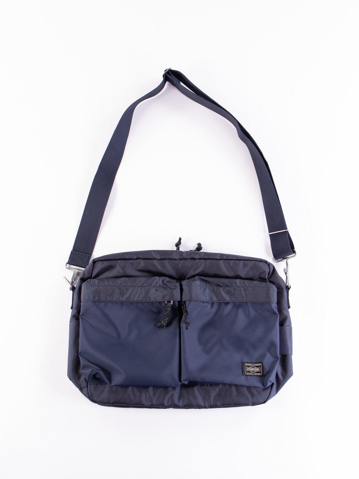 Navy Medium Force Shoulder Bag - Image 1